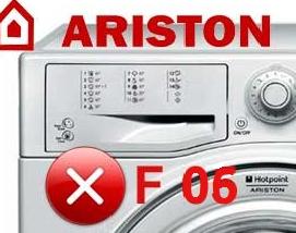 Ошибка F06 в стиральной машине Аристон
