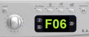 Ошибка F06 на стиральной машине Ariston